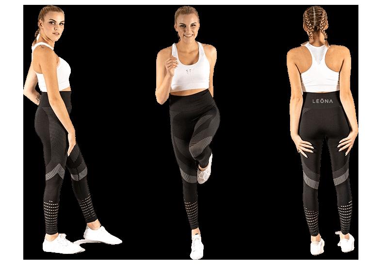 Anticelulitne Leona ženske športne-pajkice - Teresa model. Material, ki koži pusti dihati.
