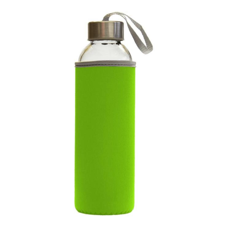 Steklenička za vodo Leona s pokrovom - zelena.